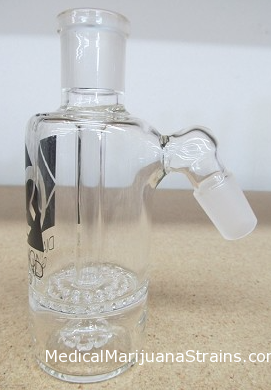 Diamond Glass 14mm 45 Degree Honey Comb Ash Catcher